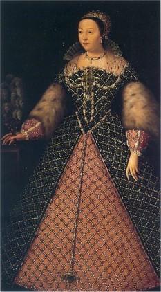 Caterina de' Medici (n. 13 aprilie 1519, Florența - d. 5 ianuarie 1589, Blois) a fost regina Franței și soția regelui Henric al II-lea al Franței, precum și mamă a trei regi aparținând Casei de Valois - foto: ro.wikipedia.org