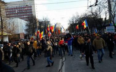 Proteste la Chişinău (24 ianuarie 2016) - foto: Epoch Times România
