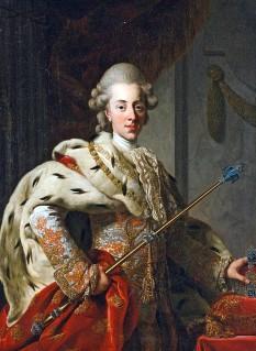 """Christian al VII-lea (n. 29 ianuarie 1749 - 12 martie/13 martie 1808) a fost rege al Danemarcei și al Norvegiei, Duce de Schleswig și Holstein din 1766 până la moartea sa. A fost fiul lui Frederick al V-lea al Danemarcei și a primei lui soții, Louise a Marii Britanii, fiica regelui George al II-lea al Marii Britanii. Ca deviză el și-a ales: """"Gloria ex amore patriae"""" (""""Slavă, prin dragostea de patrie"""") - in imagine, Portret al regelui Christian al VII-lea, pictură de Alexander Roslin, cca. 1772 - foto: ro.wikipedia.org"""