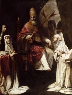 "Fabrizio Santafede - ""Papa Clement al VIII-lea binecuvantand calugaritele carmelite"" - foto: cersipamantromanesc.wordpress.com"
