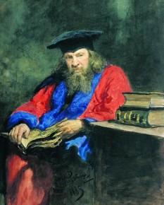 Dimitri Ivanovici Mendeleev (n. 27 ianuarie 1834 (S.N. 8 februarie), Tobolsk, Imperiul Rus – d. 20 ianuarie 1907 (S.N. 2 februarie), Sankt Petersburg, Imperiul Rus) a fost un chimist rus care a publicat un tabel periodic al elementelor asemănător cu cel actual. Tabloul lui Mendeleev era o reprezentare mai completă a relației complexe dintre elementele chimice, și, pe de altă parte, cu ajutorul acelui tabel, Mendeleev a fost capabil să prezică atât existența altor elemente (pe care le-a numit eka-elemente) nici măcar bănuite a exista pe vremea sa, precum și a proprietăților lor generale. Majoritatea previziunilor sale au fost confirmate de descoperirile ulterioare din chimie - in imagine,  Portret al lui Dmitri Ivanovici Mendeleev realizat de Ilia Repin - foto: ro.wikipedia.org