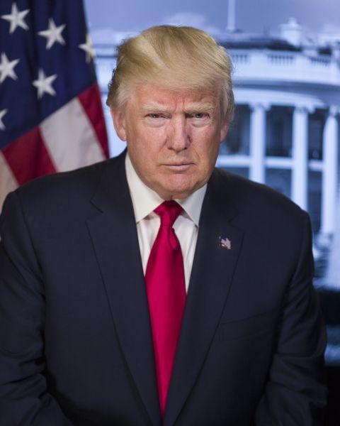 Donald John Trump (n. 14 iunie 1946, Queens, New York) este un magnat miliardar american, vedetă de televiziune, politician şi actualul preşedinte al Statelor Unite ale Americii - foto - ro.wikipedia.org