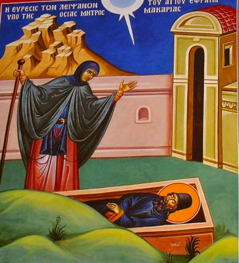 Descoperirea moaştelor Sfântului Mucenic Efrem cel Nou. Prăznuirea sa de către Biserica Ortodoxa se face la 3 ianuarie - foto: doxologia.ro