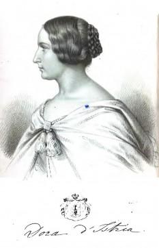 Elena Ghica (n. 22 ianuarie 1828, București – d. 17 noiembrie 1888, Florența), este numele de naștere al ducesei Helena Koltsova-Massalskaya, scriitoare de origine româno-albaneză cunoscută sub pseudonimul Dora d'Istria - foto: ro.wikipedia.org