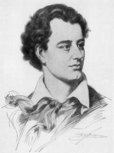"""George Gordon Noel Byron, al VI-lea Baron Byron (n. 22 ianuarie 1788, Londra — d. 19 aprilie 1824, Missolonghi, Grecia) este unul dintre cei mai cunoscuți poeți romantici englezi, alături de Percy Bysshe Shelley și John Keats, contemporani ai săi. Printre cele mai cunoscute opere ale sale sunt poemele narative Pelerinajul lui Childe Harold și Don Juan. Cel din urmă a rămas incomplet din pricina morții poetului. Faima Lordului Byron se datorează nu numai operei, ci și vieții sale, trăită în extravaganță, cu numeroase povești de dragoste, datorii, despărțiri, acuzații de incest și sodomie. El a fost descris de către Lady Caroline Lamb ca """"un om nebun, rău și periculos a-l cunoaște"""". Byron a fost un lider regional al organizației revoluționare Carbonari din Italia în revolta lor împotriva Austriei și mai târziu a călătorit pentru a lupta împotriva turcilor în Războiul de independență al Greciei, fapt pentru care grecii îl consideră un erou național. El a murit din cauza febrei în Missolonghi - foto: ro.wikipedia.org"""