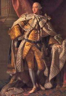 George al III-lea (George William Frederick; 4 iunie 1738 – 29 ianuarie 1820) a fost rege al Regatului Unit și rege al Irlandei din 25 octombrie 1760 până la unirea acestor țări la 1 ianuarie 1801; după această dată a fost rege al Regatului Unit al Marii Britanii și al Irlandei până la moartea sa - in imagine, George al III-lea, Rege al Regatului Unit al Marii Britanii și al Irlandei; Rege al Hanovrei, portret de Allan Ramsay, 1762 - foto: ro.wikipedia.org