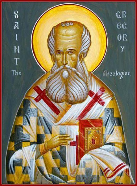 Sfântul Ierarh Grigorie Teologul (329-390), cunoscut și ca Grigorie de Nazianz, a fost un mare sfânt părinte și învățător al Bisericii. Prăznuirea lui se face pe 25 ianuarie, iar la 19 ianuarie se prăznuiește aducerea moaștelor sale în biserica Sfinților Apostoli din Constantinopol. De asemenea, pe 30 ianuarie, la praznicul Sfinților Trei Ierarhi, și sfântul Grigorie Teologul este comemorat de Biserică, împreună cu sfinții Vasile cel Mare și Ioan Gură de Aur - foto: doxologia.ro