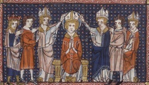 Sfântul Ilarie de Poitiers (n. cca. 315 - d. 367) a fost episcop de Poitiers, Franţa şi un cunoscut teolog. Mai este cunoscut şi sub numele de Ilarie din Pictavium, după numele latin din acea perioadă a oraşului Poitiers. Sf. Ilarie a luptat împotriva arianismului în Occident. Prăznuirea sa se face la 13 ianuarie - in imagine, Hirotonirea Sf. Ilarie (manuscris din sec. XIV) - foto: ro.wikipedia.org