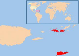 Insulele Virgine Americane reprezintă un grup de insule în Marea Caraibelor care aparține Statelor Unite ale Americii. Geografic, insulele aparțin de Insulele Virgine și sunt compuse din 4 insule principale și mai multe insule mici. Suprafața totală este de 346,3 km pătrați iar populația era de 108,612 locuitori (2000) - foto: ro.wikipedia.org