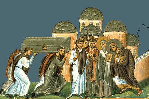 Aducerea moaștelor Sfântului Ioan Gură de Aur. Pomenirea lor de catre Biserica Ortodoxa se face la data de 27 ianuarie - foto: doxologia.ro