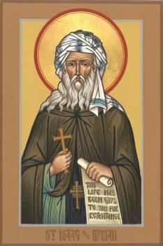 Slăvitul părintele nostru Isaac Sirul (Beit' Katraja, ~640 ; Rabban Sabor, ~700), cunoscut uneori şi sub numele de Isaac de Ninive este un sfânt cuvios episcop sirian, cunoscut pentru nevoinţele sale stricte şi pentru scrierile sale ascetice. Prăznuirea sa se face în 28 ianuarie - foto: doxologia.ro