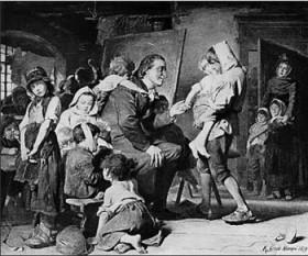 Johann Heinrich Pestalozzi (n. 12 ianuarie 1746 - d. 17 februarie 1827) a fost un pedagog elvețian și reformator al educației. A îmbogățit și reînnoit conținutul și metodele învățământului primar, fiind considerat întemeietorul școlii populare - cersipamantromanesc.wordpress.com