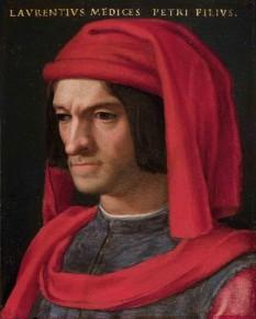 Lorenzo de' Medici (n. 1 ianuarie 1449 - d. 9 aprilie 1492), politician italian și conducător al Republicii Florentine în timpul Renașterii italiene. Cunoscut și sub numele de Lorenzo Magnificul (Lorenzo il Magnifico) de către florentinii contemporani, a fost un diplomat, politician și cunoscut îndrumător al savanților, artiștilor și poeților. Viața sa poate fi asociată cu apogeul Renașterii italiene timpurii, iar moartea sa a marcat încheierea epocii de aur a Florenței - foto (Lorenzo de' Medici, portret de Agnolo Bronzino): ro.wikipedia.org