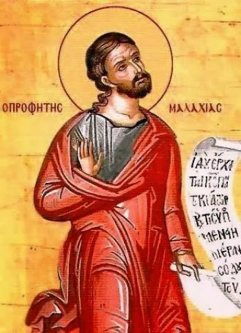 Sfântul Prooroc Maleahi. Prăznuirea sa de către Biserica Ortodoxa se face la 3 ianuarie - foto: doxologia.ro