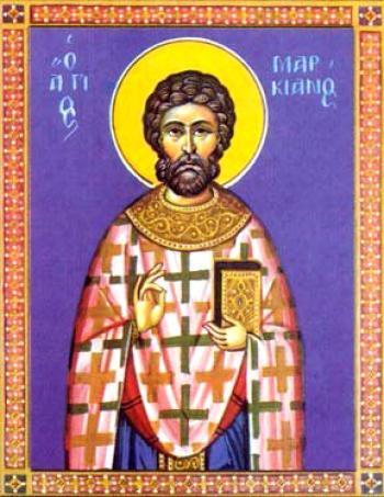 Sfântul Cuvios Marchian. Pomenirea sa de către Biserica Ortodoxă se face la 10 ianuarie - foto: doxologia.ro