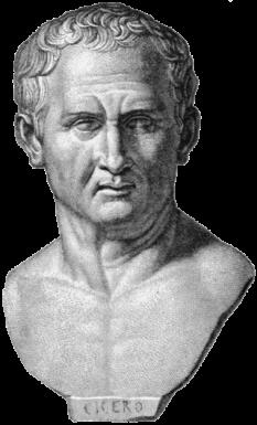 Marcus Tullius Cicero (n. 3 ianuarie 106 î.Hr. – d. 7 decembrie 43 î.Hr.), filozof, politician, jurist, orator, teoritician politic, consul și constituționalist roman - foto: ro.wikipedia.org