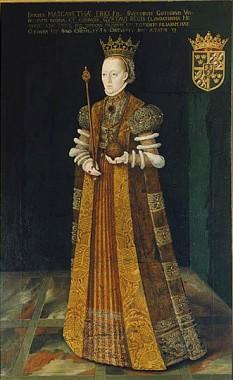 Margareta Leijonhufvud (născută Margareta Eriksdotter; 1 ianuarie 1516 – 26 august 1551), a doua soție a regelui Gustav I al Suediei și mama a doi regi ai Suediei: Ioan al III-lea și Carol al IX-lea - foto (Pictură de Johan Baptista van Uther): ro.wikipedia.org