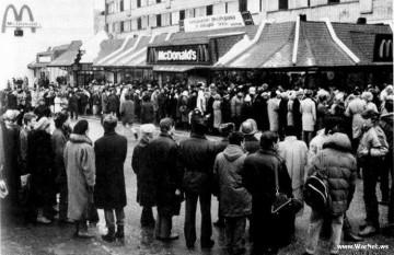 30 ianuarie 1990: Se deschide primul restaurant McDonald in Rusia - foto: cersipamantromanesc.wordpress.com