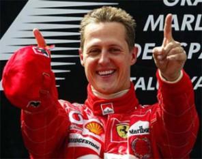 Michael Schumacher (n. 3 ianuarie 1969, Hürth-Hermühlheim, Republica Federală Germania), fost pilot de Formula 1. Statistic, prin prisma celor șapte titluri mondiale câștigate, a celor 91 de victorii, 68 de pole position-uri și 76 de cele mai rapide tururi, Michael Schumacher este considerat drept cel mai bun pilot de Formula 1 din toate timpurile - foto: cersipamantromanesc.wordpress.com
