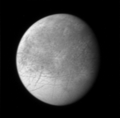 Europa - Imagine  realizata de New Horizons (în 2007) în timpul zborului spre Pluton - foto: ro.wikipedia.org