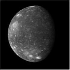 Callisto - Imagine  realizata de New Horizons (în 2007) în timpul zborului spre Pluton - foto: ro.wikipedia.org