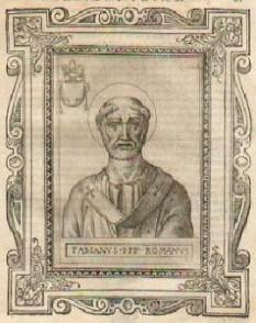 Sf. Fabian (n. ? - d. 250, Roma) a fost Papă al Romei în perioada 10 ianuarie 236 - 20 ianuarie 250, martir și sfânt - foto: ro.wikipedia.org