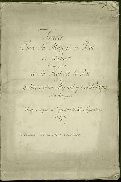 Tratatul de împărţire a Poloniei din 1793 - foto: ro.wikipedia.org