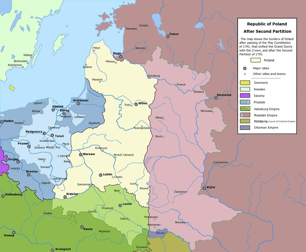 A doua împărţire a Poloniei (1793) - foto: ro.wikipedia.org