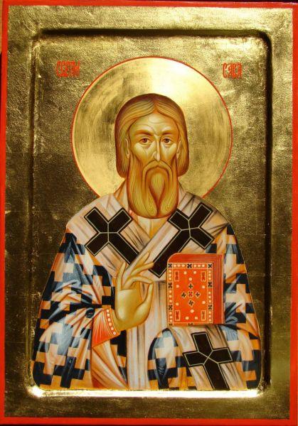 Sfântul Cuvios Sava, arhiepiscopul Serbiei şi ctitorul mănăstirii Hilandar. Pomenirea sa de către Biserica Ortodoxă se face la 14 ianuarie - foto: doxologia.ro