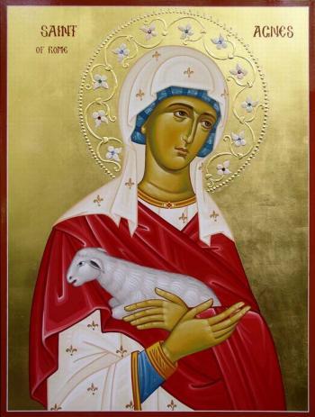 Sfânta Muceniţă Agnia. Pomenirea sa de către Biserica Ortodoxă se face la 21 ianuarie - foto: doxologia.ro