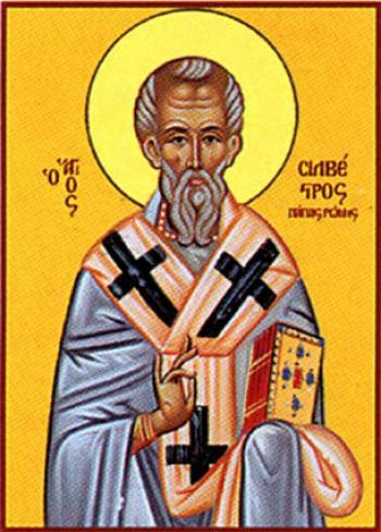 Silvestru I (d. 31 decembrie 335, Roma), papă al Romei din 314 și până în 335. Prăznuirea sa de către Biserica Ortodoxa se face la 2 ianuarie - foto: doxologia.ro