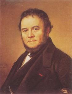 Stendhal, pe numele său adevărat Henri-Marie Beyle (23 ianuarie 1783, Grenoble – 23 martie 1842, Paris), a fost un scriitor francez renumit pentru finețea analizei sentimentelor personajelor sale și pentru lipsa intenționată de sensibilitate a stilului său - foto: ro.wikipedia.org