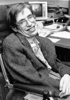 Stephen Hawking (n. 8 ianuarie 1942, Oxford/Anglia) este un fizician englez, teoretician al originii universului și unul dintre cei mai mari cosmologi contemporani, profesor la catedra de Matematică la Universitatea Cambridge, deținută cândva de Isaac Newton - foto: ro.wikipedia.org