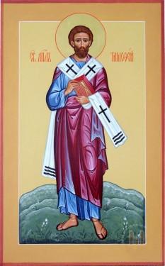"""Sfântul, slăvitul și întru tot lăudatul Apostol Timotei (adormit în anul 80 d.Hr.) a fost un episcop din primul secol. Prăznuirea sa se face la 22 ianuarie în Biserica Ortodoxă  si în Biserica Catolică la 26 ianuarie. Numele său, din grecescul Τιμοθεος, înseamnă """"slăvind pe Dumnezeu"""" - foto: doxologia.ro"""