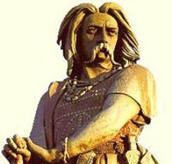 Vercingetorix (c. 82 î.Hr. – 46 î.Hr.) a fost căpetenia tribului arvernilor, care a unit pe galii începând o revoltă nereușită împotriva stăpânirii romane în Galia în cursul ultimului stadiu al Războaielor Galice lui Iulius Cezar - foto: cersipamantromanesc.wordpress.com