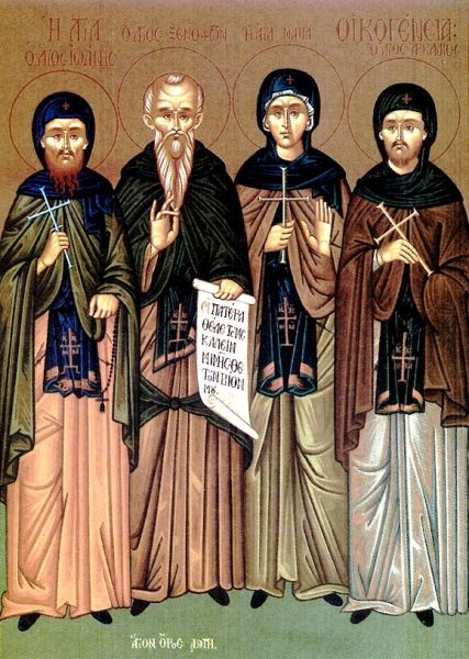 Sfinții Cuvioși Xenofont, Maria, soția sa, și fiii lor - Arcadie și Ioan. Pomenirea lor de catre Biserica Ortodoxa se face la data de 26 ianuarie - foto: ziarullumina.ro