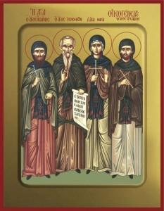 Sfinții Cuvioși Xenofont, Maria, soția sa, și fiii lor, Arcadie și Ioan. Prăznuirea lor în Biserica Ortodoxă se face pe 26 ianuarie - foto: doxologia.ro