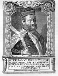 Ștefan Bocskai sau Ștefan Bocskay (în maghiară Bocskai István) (n. 1 ianuarie 1557, Cluj - d. 29 decembrie 1606, Cașovia) a fost un principe al Transilvaniei - foto: ro.wikipedia.org