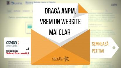 Cerem ANPM să ne pună la dispoziție un website funcțional și util - foto: de-clic.ro