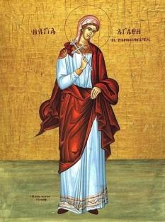Sfânta Muceniță Agata. Prăznuirea sa de către Biserica Ortodoxă se face la data de 5 februarie - foto: doxologia.ro