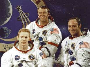 Apollo 14, de la stânga la dreapta: Roosa, Shepard, Mitchell - foto: ro.wikipedia.org
