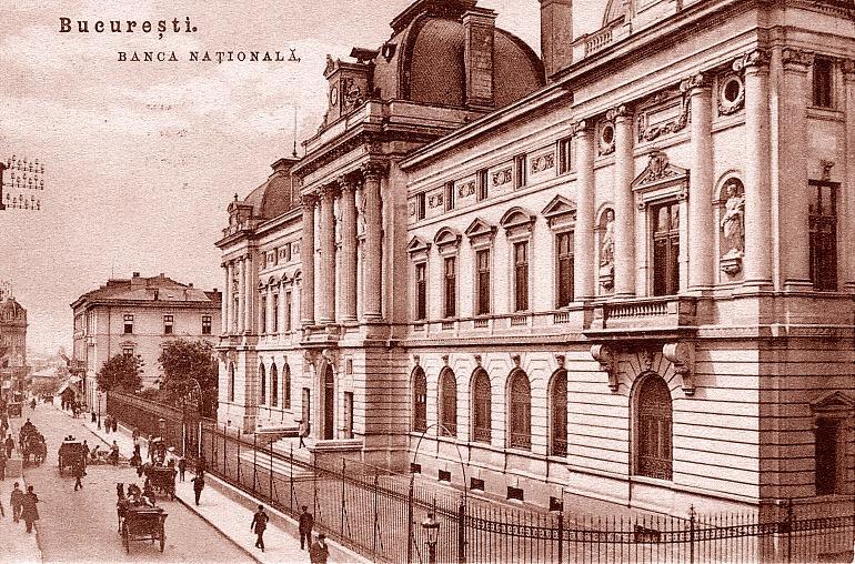 Banca Națională a României (Palatul Vechi, imagine de epocă) - foto preluat de pe bnr.ro