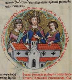Conrad al II-lea (990 – 4 iunie 1039) a fost fiul unui nobil din Franconia, Henric de Speyer, moștenind titlurile de Conte de Speyer și Worms de la tatăl său la vârsta de 20 de ani. Conrad și-a extins influența în afara bazei sale din Speyer și Worms, devenind unul dintre cei mai cunoscuți nobili din Germania. Când linia ottoniană a conducătorilor Germaniei s-a stins, acesta a fost ales Rege al Germaniei în 1024 la vârsta de 34 de ani. În 1027 a fost încoronat Împărat romano-german la Roma, fiind primul din cei patru Împărați ai dinastiei Salicilor - in imagine, Miniatură din secolul XIV cu Conrad al II-lea - foto: ro.wikipedia.org