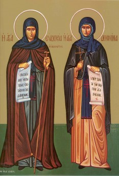 Sfânta Muceniță Evdochia și Sfânta Cuvioasă Domnina. Pomenirea lor de către Biserica Ortodoxă se face la data de 1 martie - foto: doxologia.ro