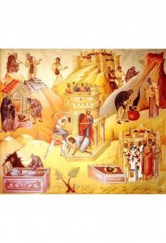 """Sfântul Ioan Botezătorul a fost ultimul dintre prooroci, înainte-mergător și botezător al Domnului nostru Iisus Hristos, """"cel mai mare dintre cei născuți dintre femei"""" (Matei 11,11; Luca 7,28), așa cum îi spune Mântuitorul. Iisus mai afirmă că el nu este nici o """"trestie clătinată de vânt"""", nici un """"om îmbrăcat în haine moi"""" (Matei 11,7-8), indicând astfel caracterul neclintit și auster al profetului. Biserica Ortodoxă are șase zile de prăznuire pentru Sfântul Ioan Botezătorul. În ordine calendaristică, cu începutul anului bisericesc (1 septembrie): 23 septembrie - Zămislirea sfântului Ioan Botezătorul 7 ianuarie - Soborul Sfântului prooroc, Înaintemergătorului și Botezătorului Ioan (a doua zi după Teofanie, 6 ianuarie) 24 februarie - Întâia și a doua aflare a Capului Înaintemergătorului și Botezătorului Ioan 25 mai - A treia aflare a capului Sf. Ioan Botezătorul 24 iunie - Nașterea sfântului Ioan Botezătorul, sărbătoare care în popor poartă numele de Sânziene sau Drăgaică. 29 august - Tăierea capului Înaintemergătorului (pe care Biserica a rânduit-o ca zi de post negru) - in imagine, Întâia și a doua aflare a Capului Sfântului Ioan, Înaintemergătorul și Botezătorul Domnului.  - foto: basilica.ro"""