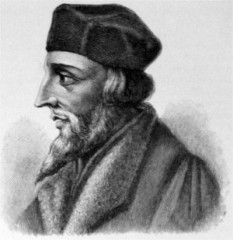 Jan Hus (1369 -1415) teolog reformator ceh, născut la Husinec, Boemia, ars pe rug pentru ideile sale anti-papale. Prin scrierile sale, Jan Hus a contribuit mult la dezvoltarea limbii cehe literare - foto: ro.wikipedia.org