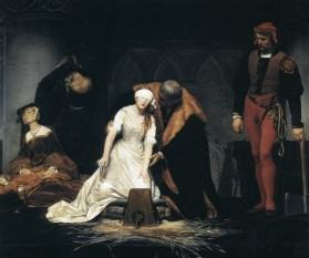 Execuţia lui Lady Jane Grey de Paul Delaroche, 1833 - foto: cersipamantromanesc.wordpress.com
