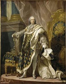 """Ludovic al XV-lea (15 februarie 1710 – 10 mai 1774), denumit """"Cel Mult Iubit"""", a fost rege al Franței și Navarei din 1715 până în 1774, in imagine, Louis XV France by Louis-Michel van Loo - foto: ro.wikipedia.org"""