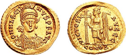 Binecredinciosul împărat Marcian sau Flavius Marcianus (392 - ianuarie 457) a fost împărat al Imperiului Roman de Răsărit (Bizantin) între anii 450 si 457. După urcarea sa pe tronul imperial, a convocat în anul 451 al patrulea Sinod Ecumenic la Calcedon, pentru a rezolva controversele religioase datorate ereziei monofizite. Marcian și soția sa, împărăteasa Pulcheria, au fost canonizați de Biserica Ortodoxă; ei sunt pomeniți în fiecare an la 17 februarie - foto: ro.orthodoxwiki.org