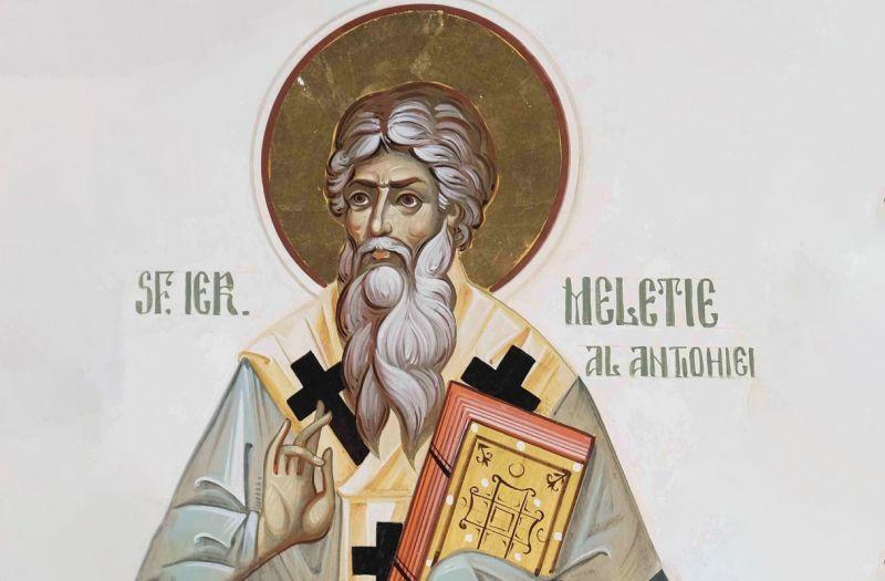 Sf. Ier. Meletie, Arhiepiscopul Antiohiei (†381) - foto preluat de pe ziarullumina.ro